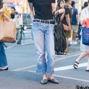 Lauren Ralph lauren Dark Denim Cropped Jeans